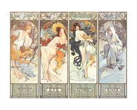 Alfons Maria Mucha - Les saisons