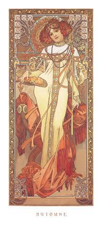 Alphonse Mucha - Automne, 1900