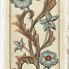 Chariklia Zarris - Crackled Italianate Panel in Blue I