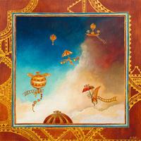 Bernadette Pottiez - Voyage en ballon - 10 pezzi