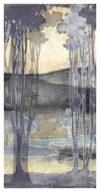 Jennifer Goldberger - Embellished Nouveau Landscape I