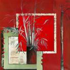 Annie Manero - Vase noir aux Bambous - 10 piezas