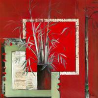 Annie Manero - Vase noir aux Bambous - 10 pezzi