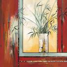Annie Manero - Vase blanc aux Bambous - 10 piezas