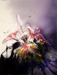 Lars Eje Larsson - Pink lilys