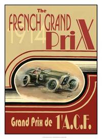 Ethan Harper - Printed French Grand Prix 1914