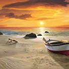 Adriano Galasso - Spiaggia al tramonto